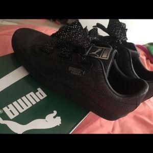 Puma Black/Silver Sneakers